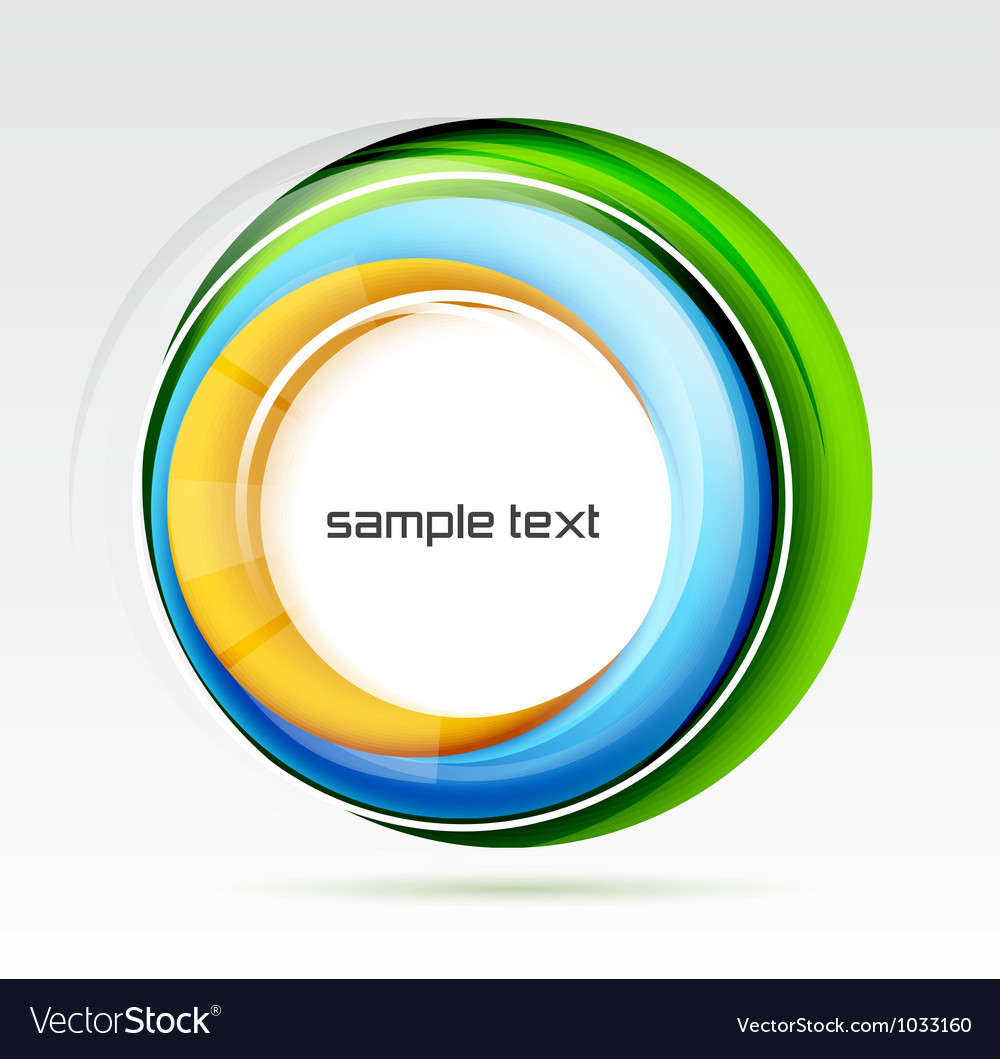 Abstract colorful swirl design vector