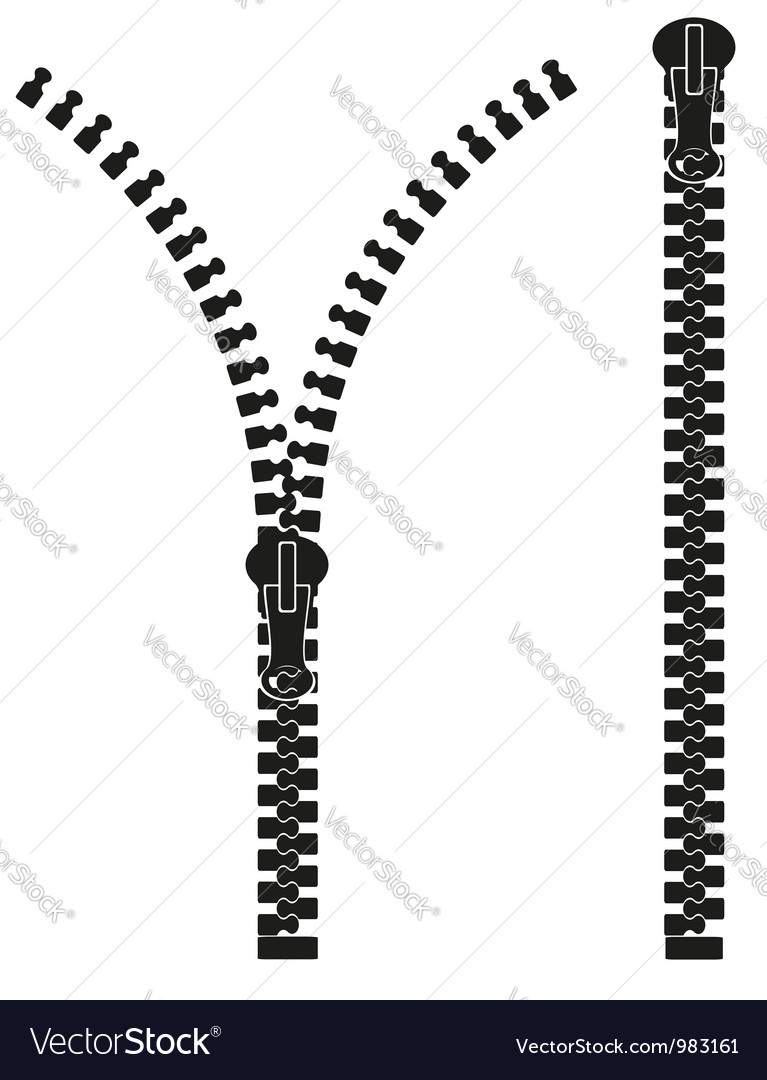 Zipper 04 vector