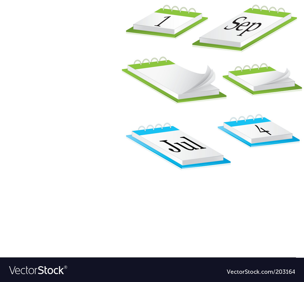 Desk calendar vector