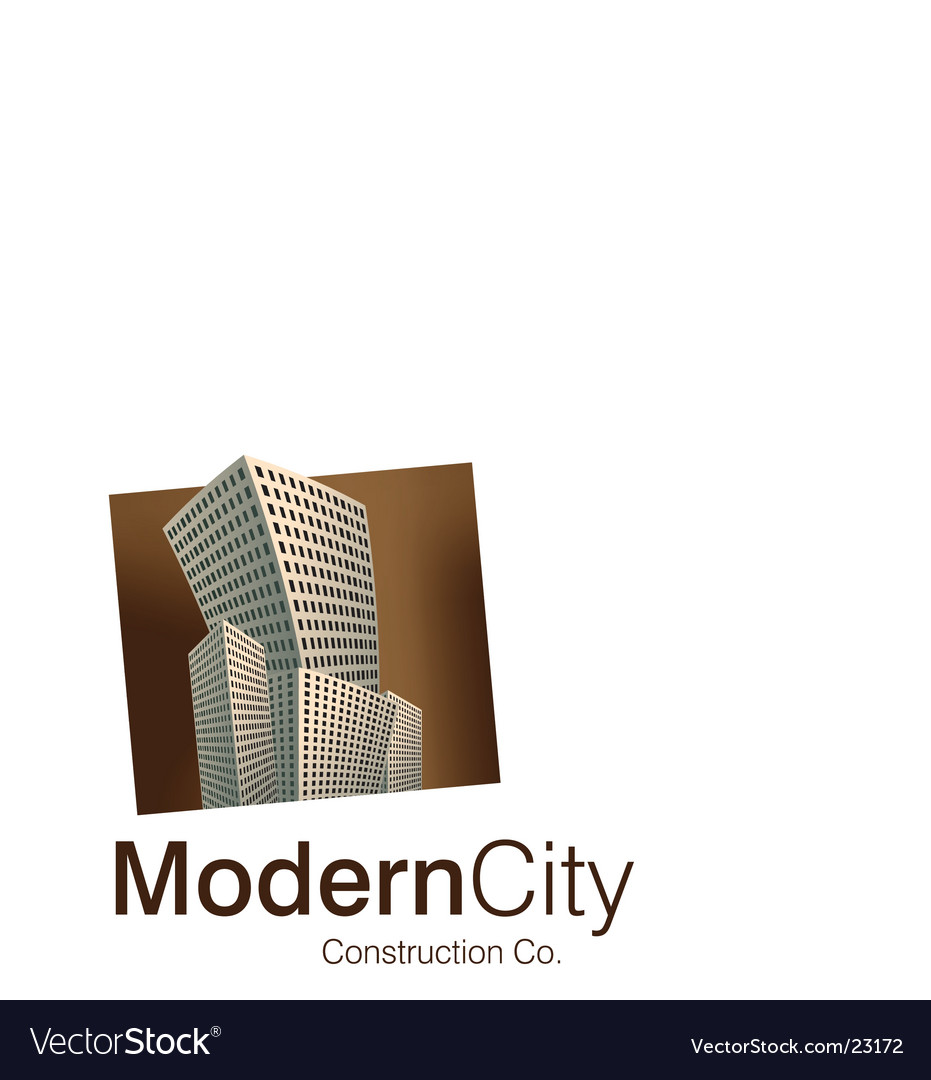 Modern city logo vector