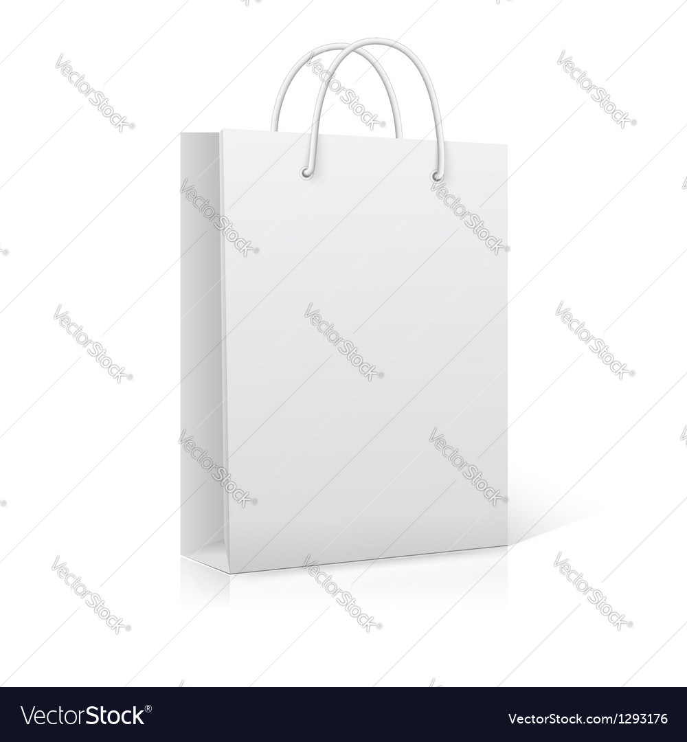 Empty shopping bag on white ready for your design vector