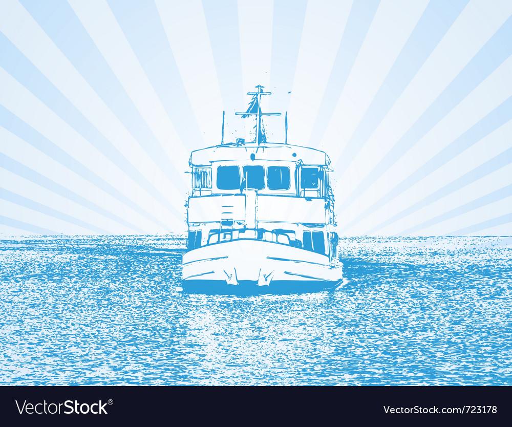Of a ship vector