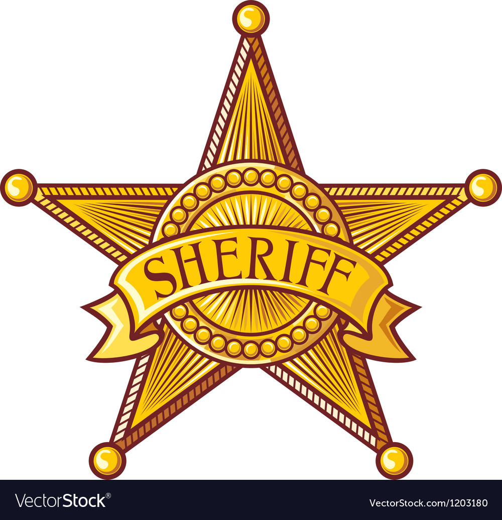 Sheriff Star Template Sheriff badge vector