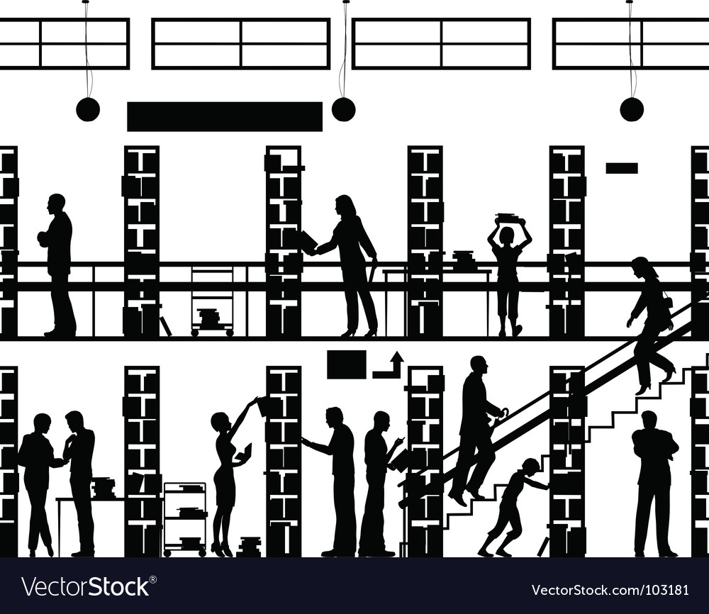 Public library vector