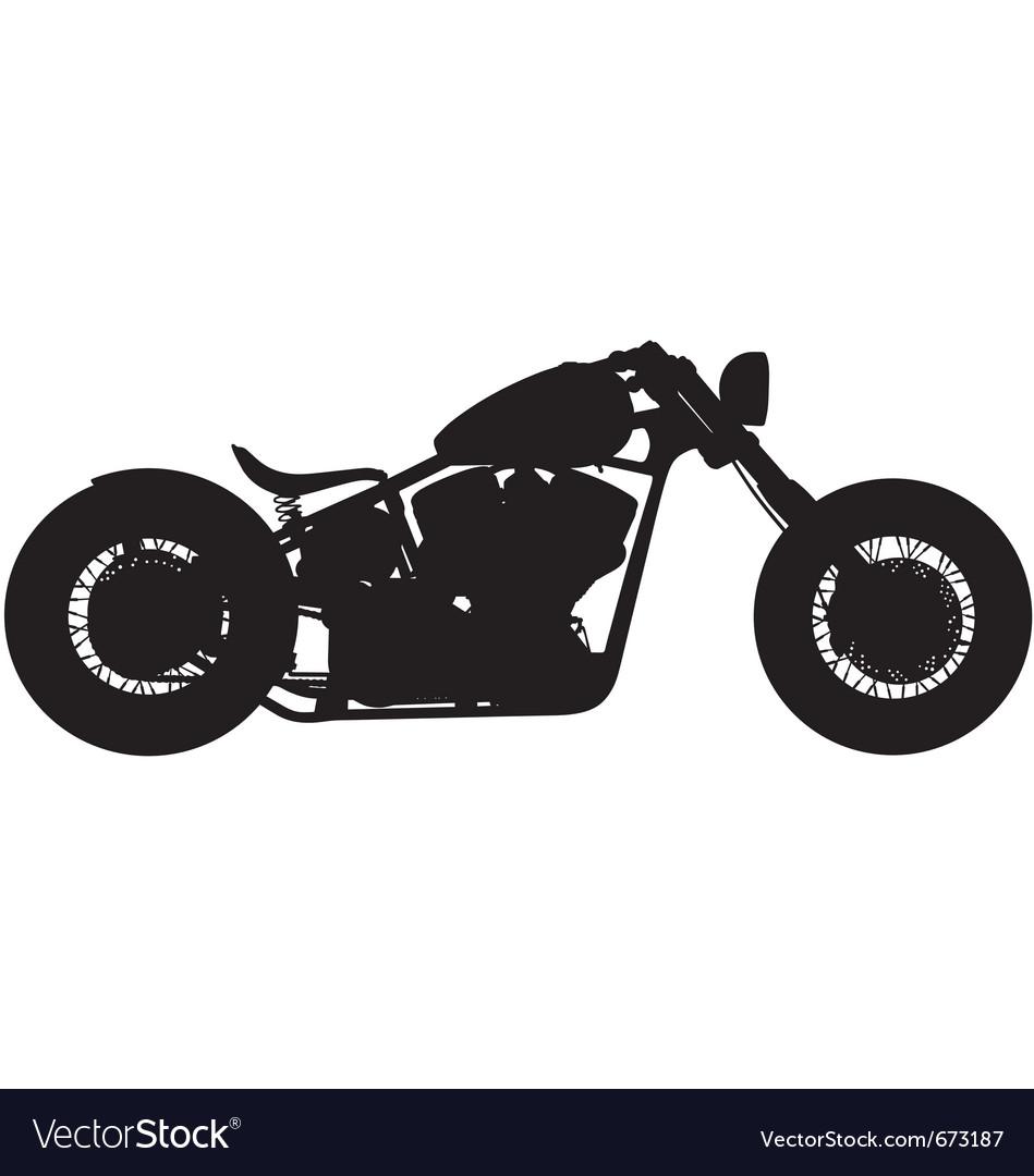 Chopper motorbike silhouette vector