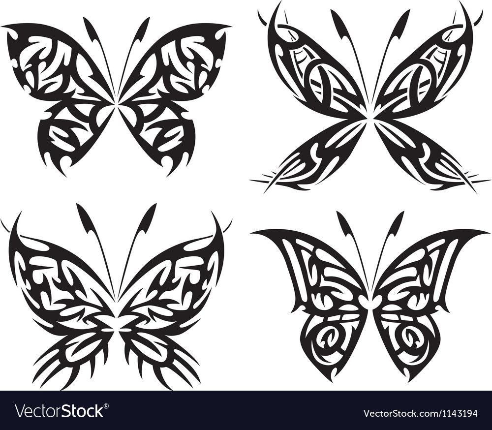 Flaming butterflies vector