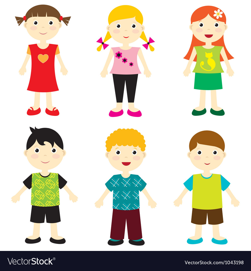 Free happy kids vector