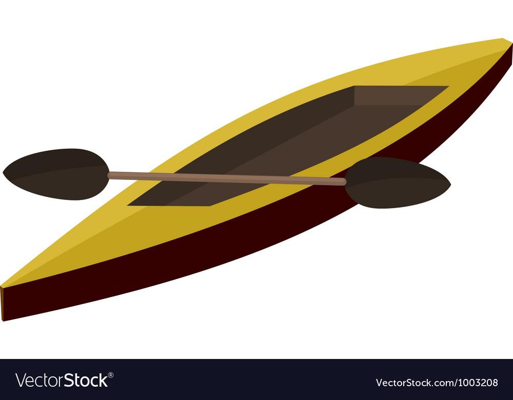 Canoe paddle eps10 vector