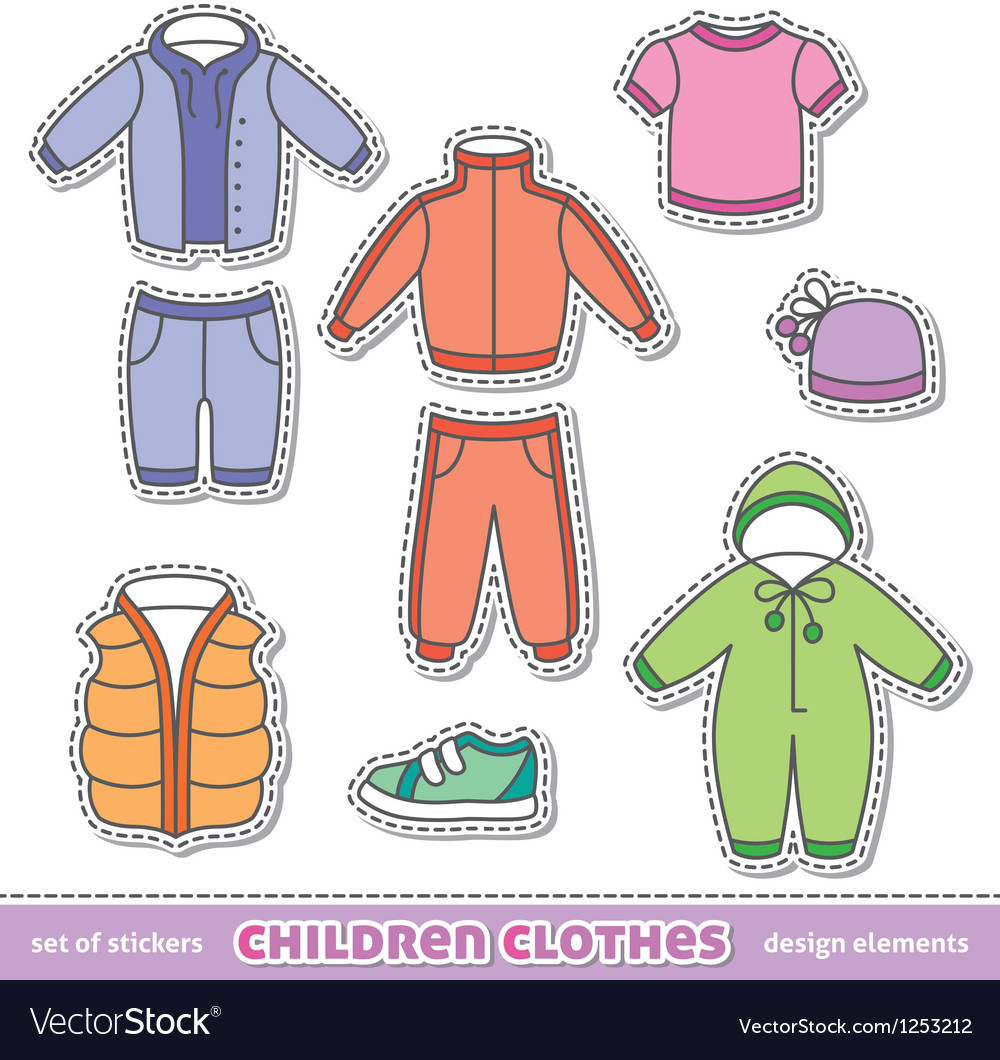 Children clothes vector