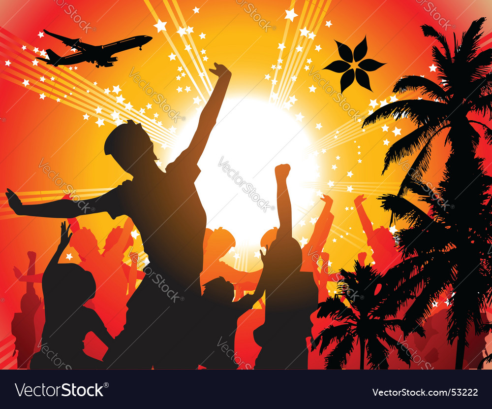 Summer holiday vector