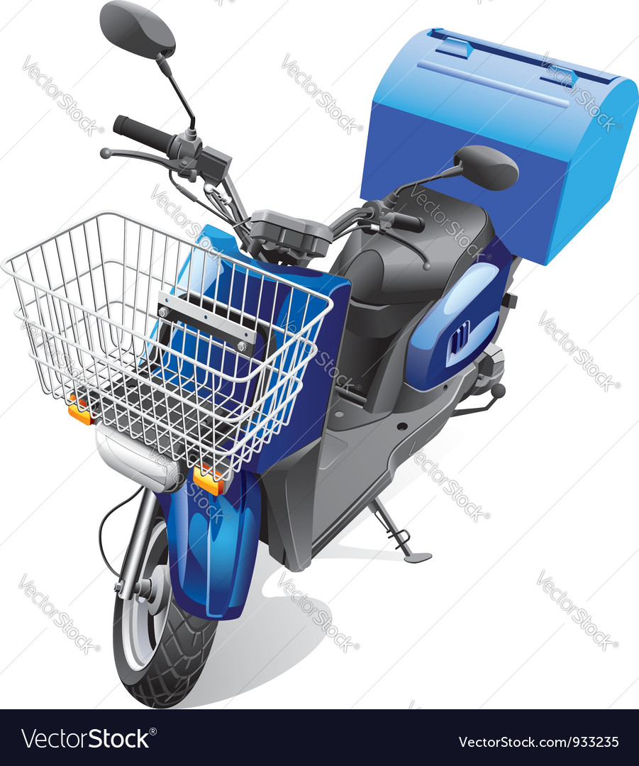 Courier scooter vector