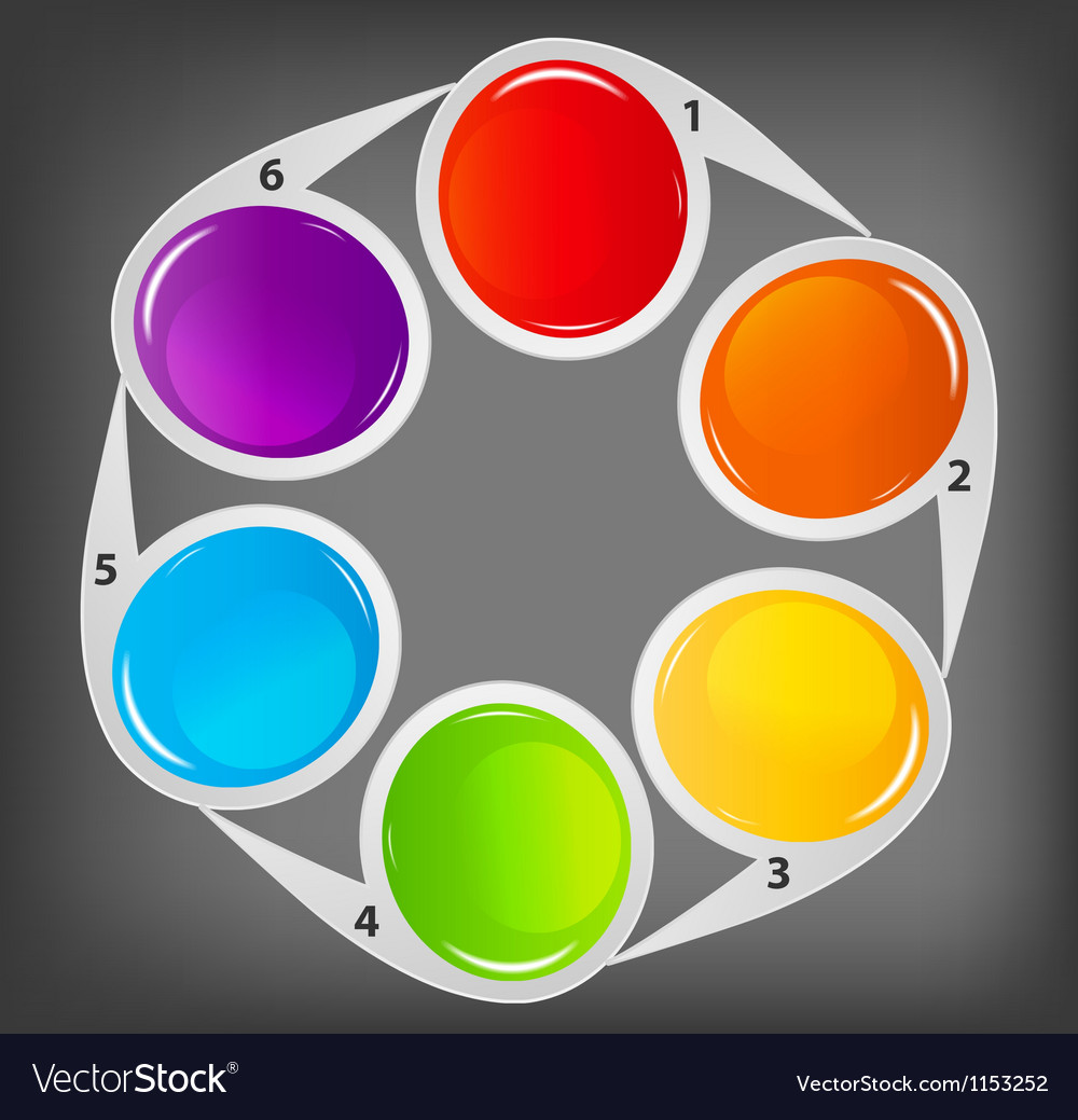 Concept of colorful circular banners for different vector