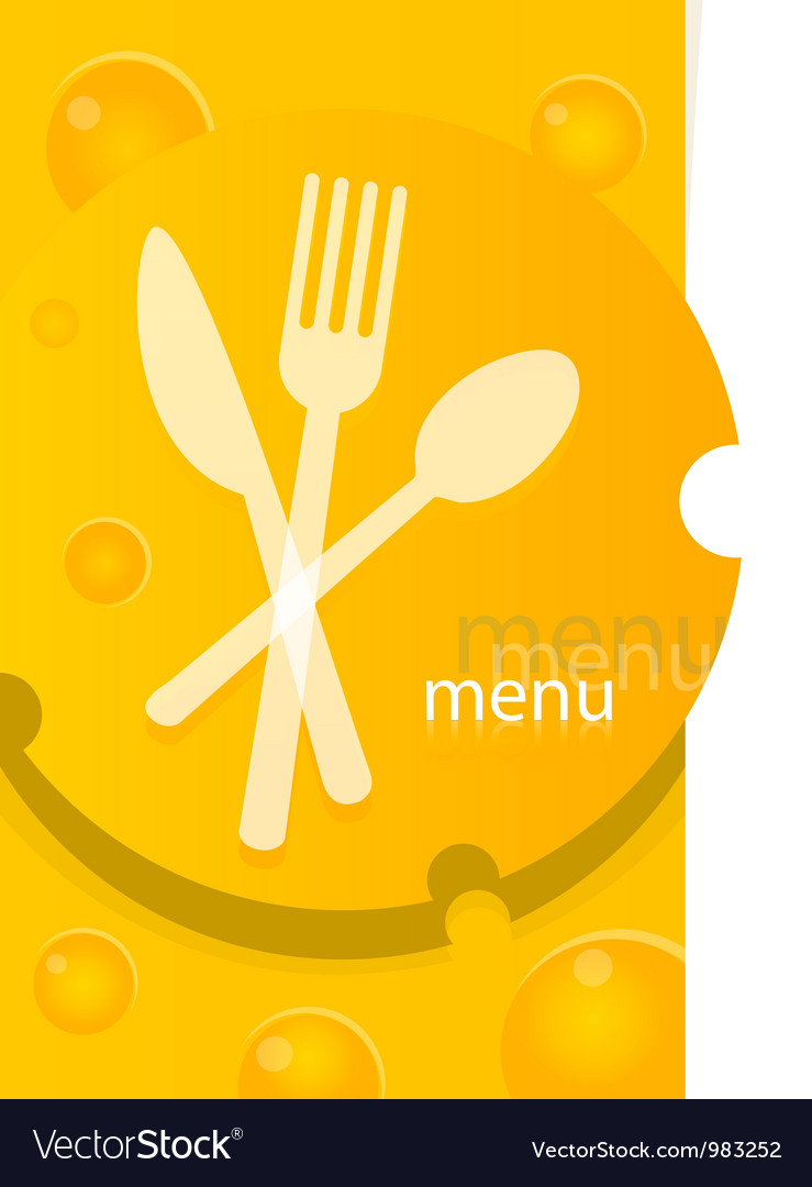 Menu template design vector