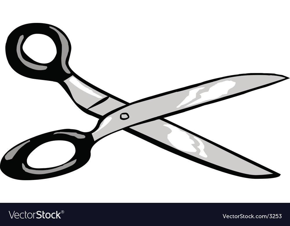 Scissors tool vector