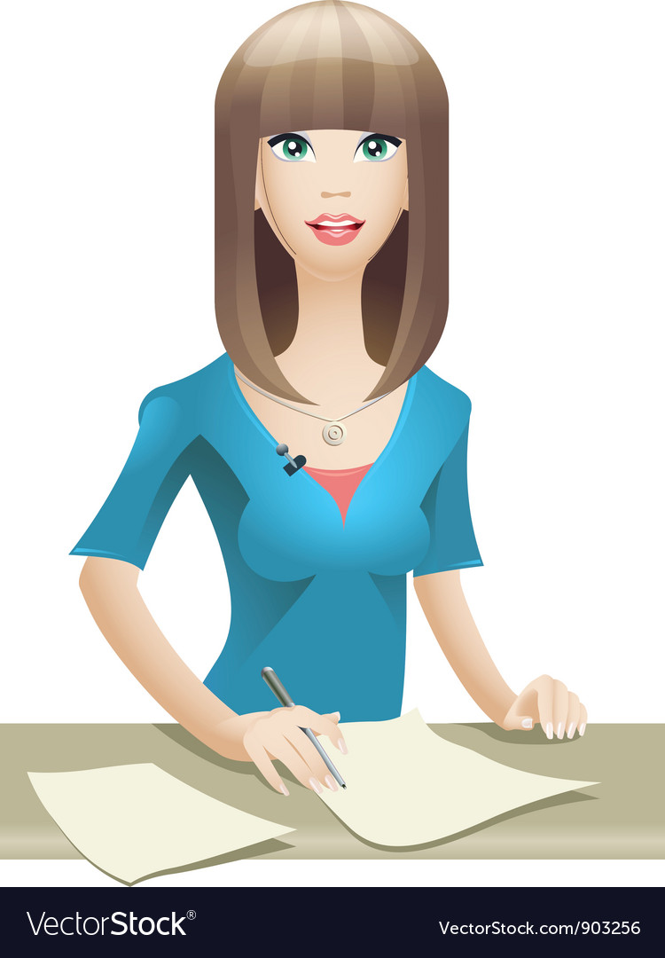 Anchorwoman vector