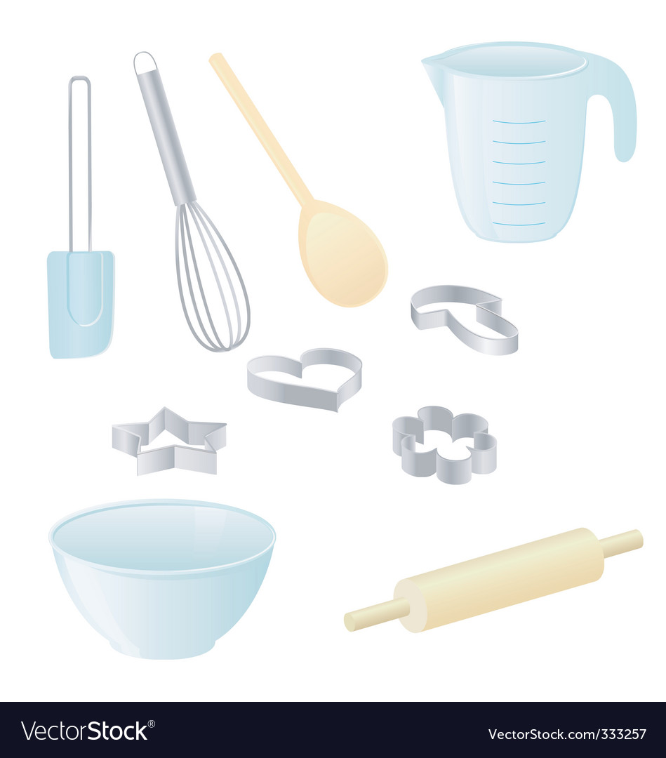 Baking utensils vector