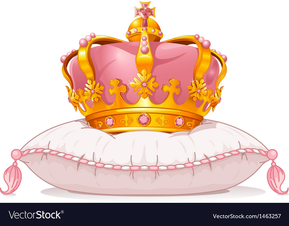 Crown on the pillow vector