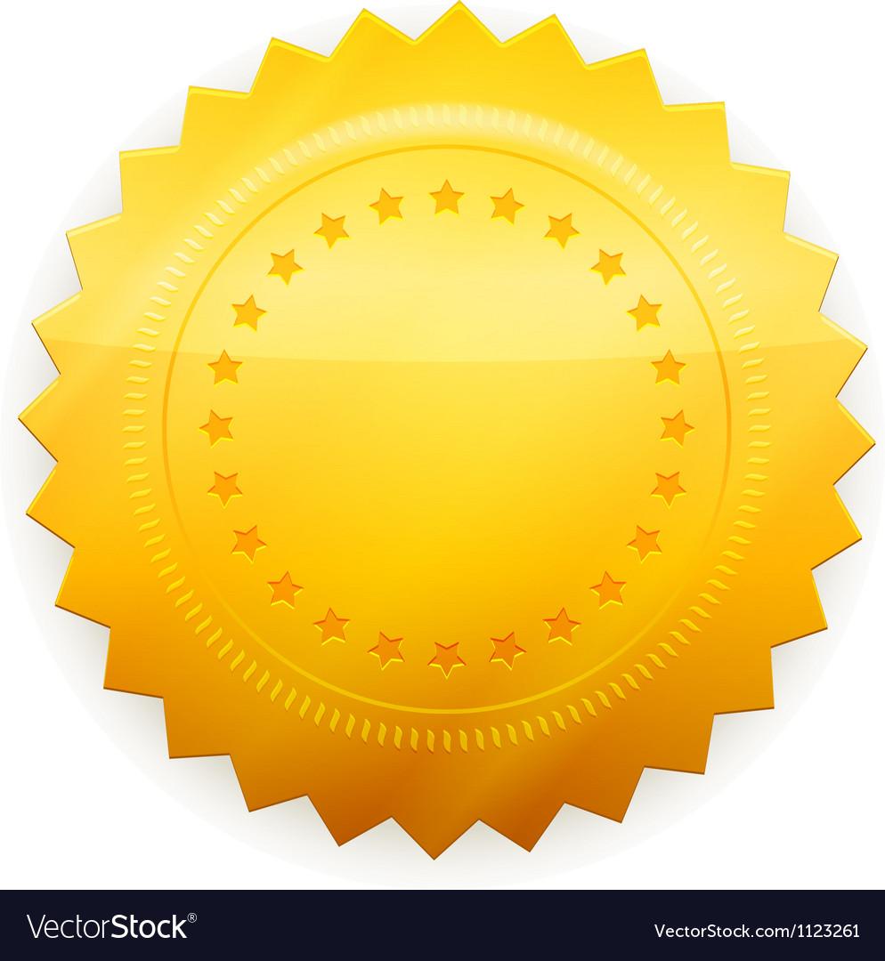 Blank guarantee certificate vector