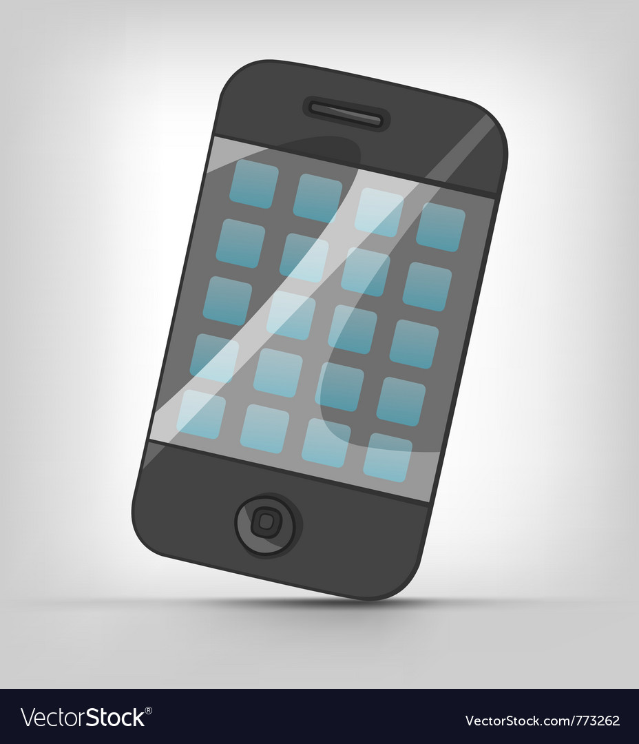 Cartoons mobile phone vector