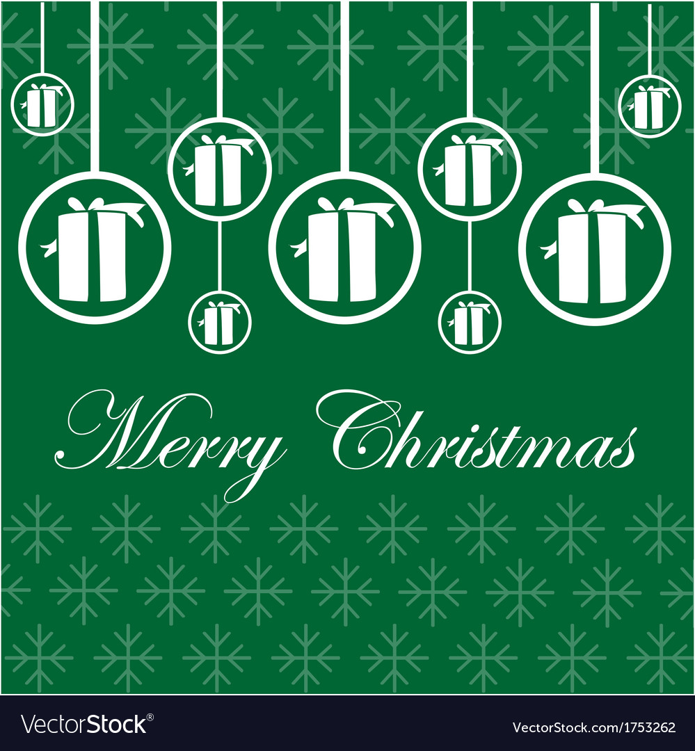 christmas card, vector, green, microstock