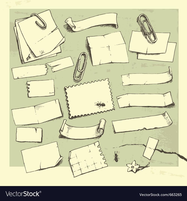 Paper pieces vector