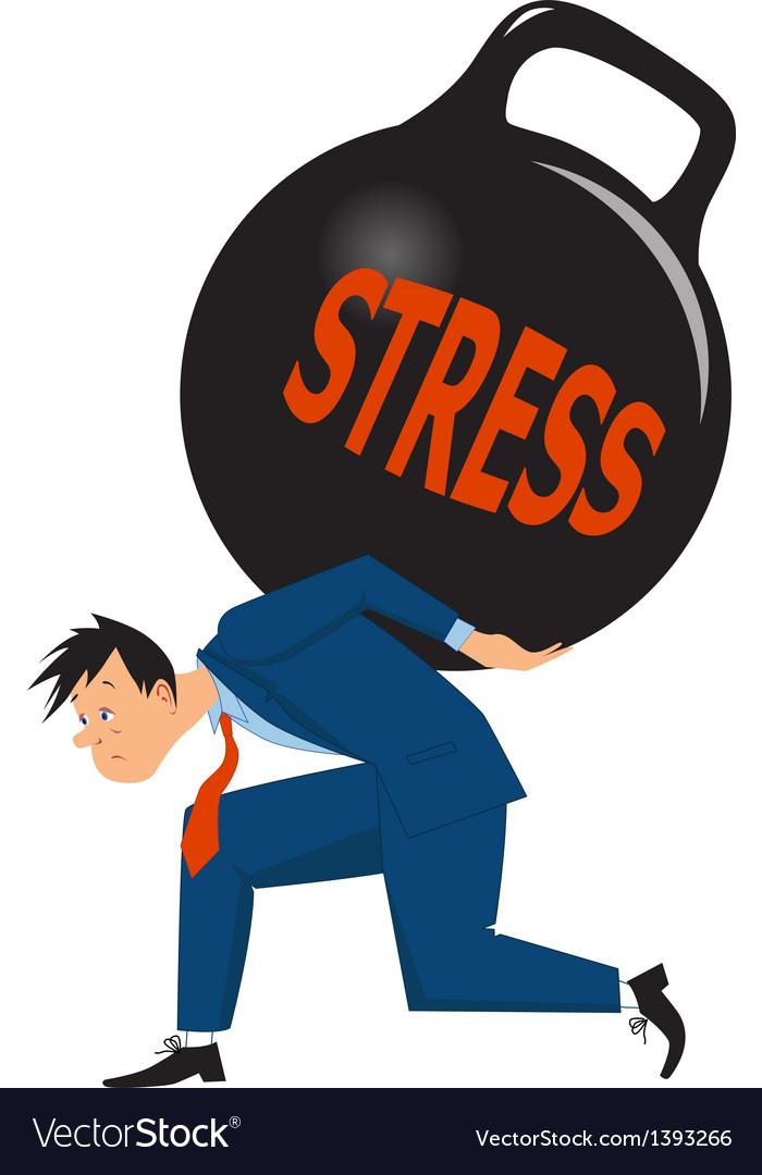 Businessman under stress vector