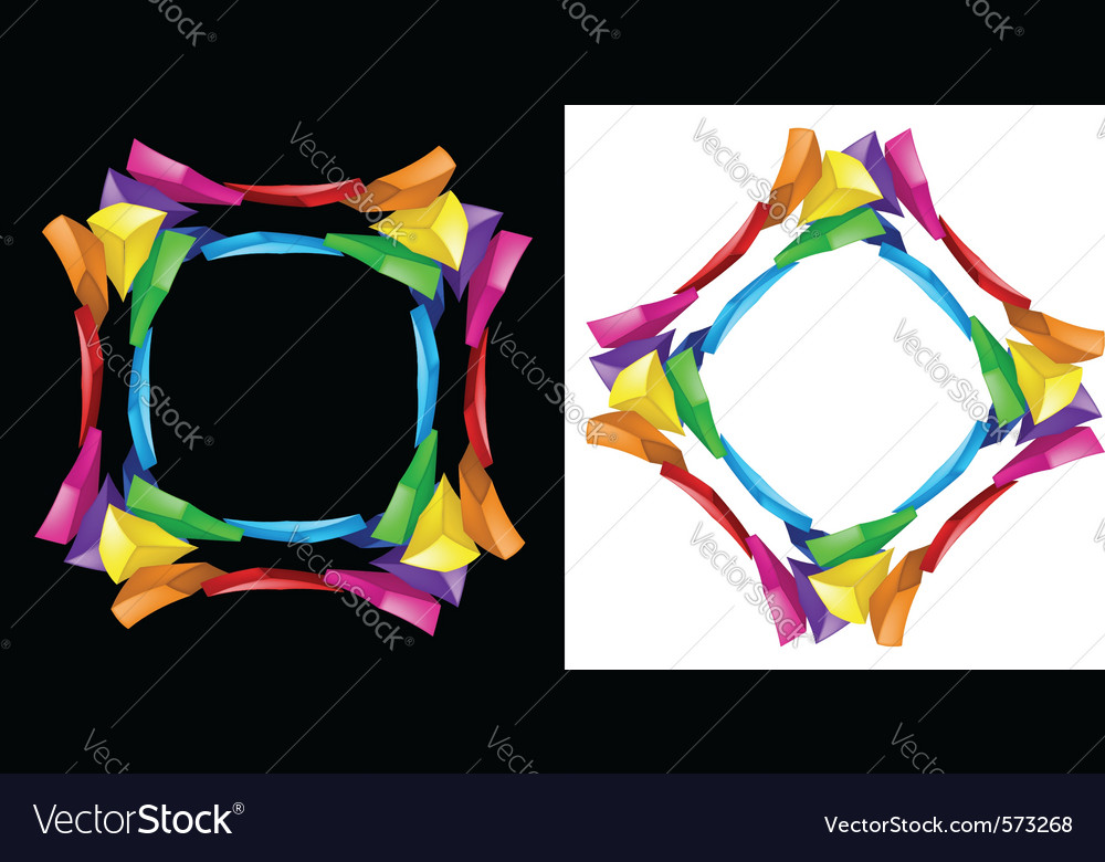 3d abstract composition on black and white backgro vector