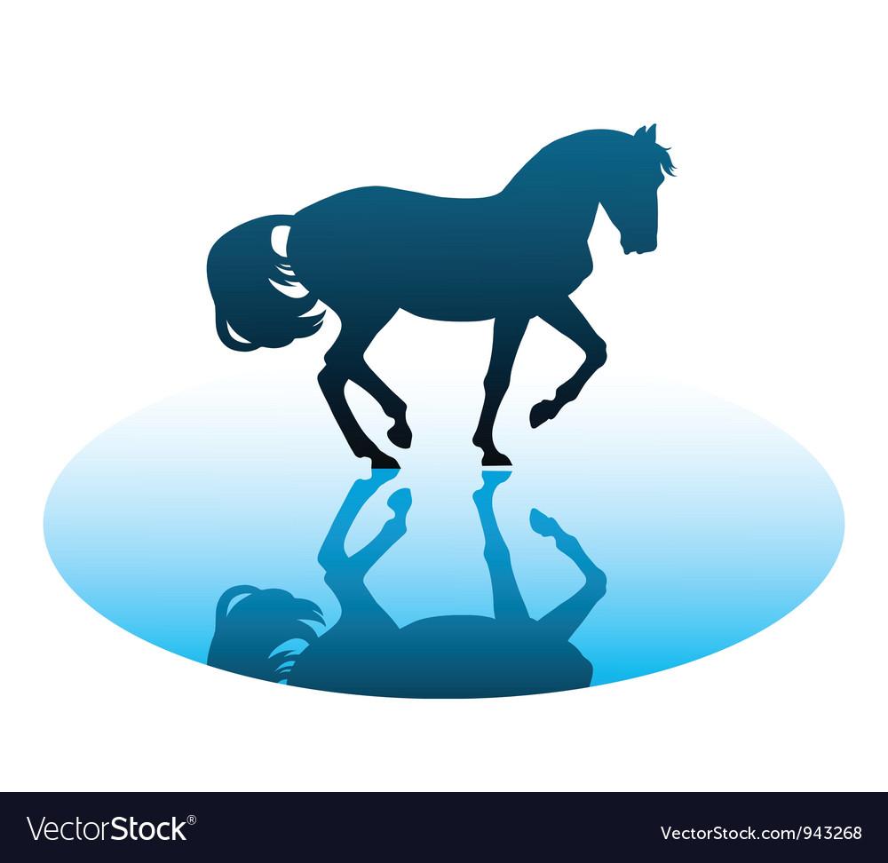 Running horses1 vector