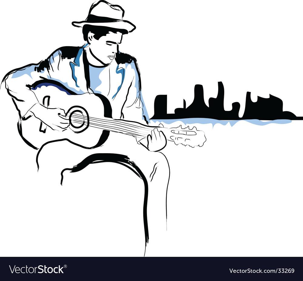 Music cityscape vector