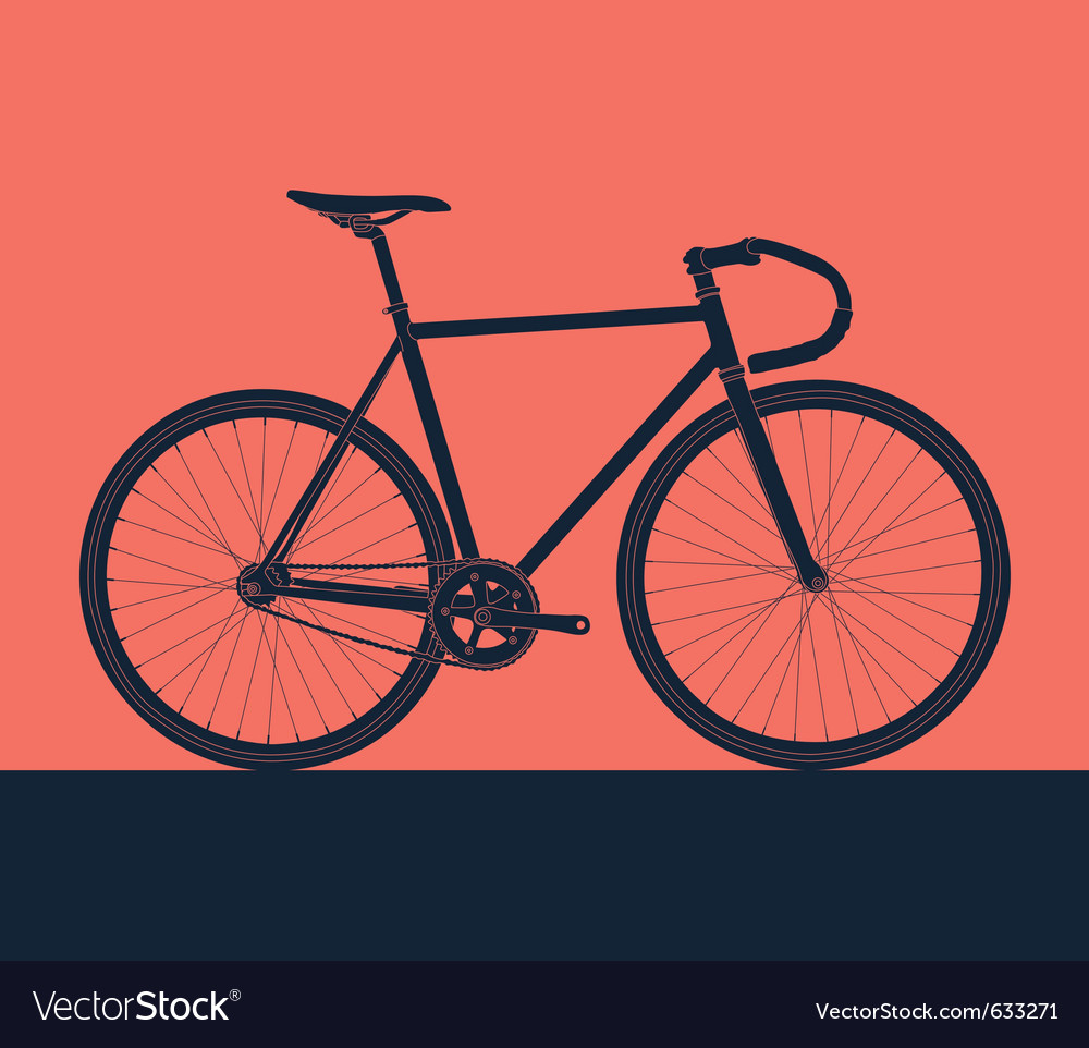 Detailed bike silhouette vector