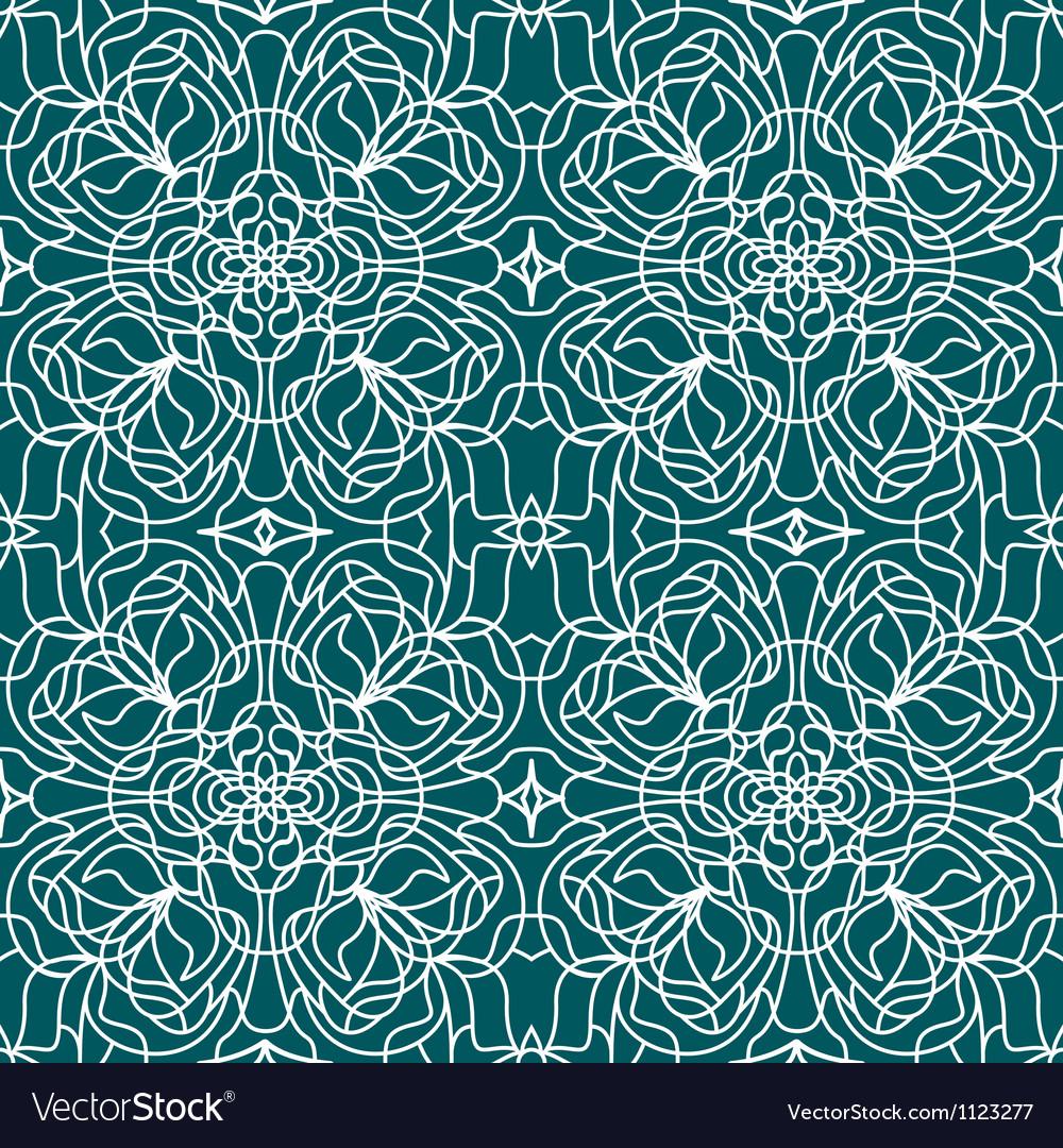 Seamless pattern tiffany vector