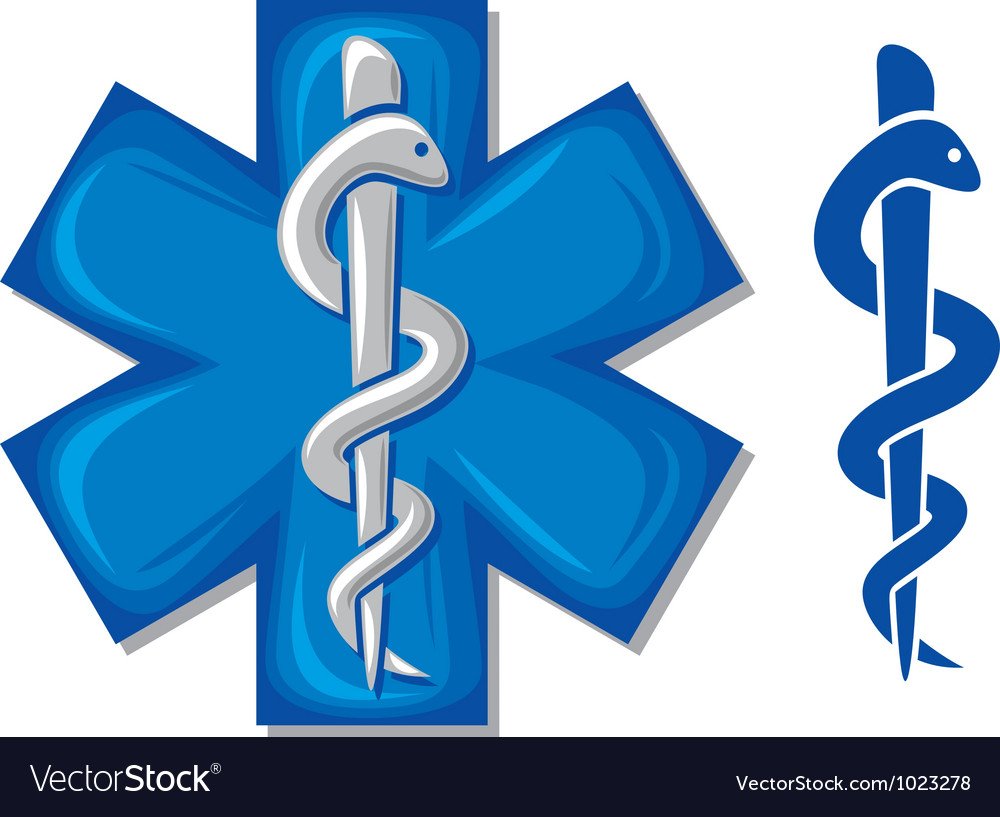 Medical symbol caduceus snake vector