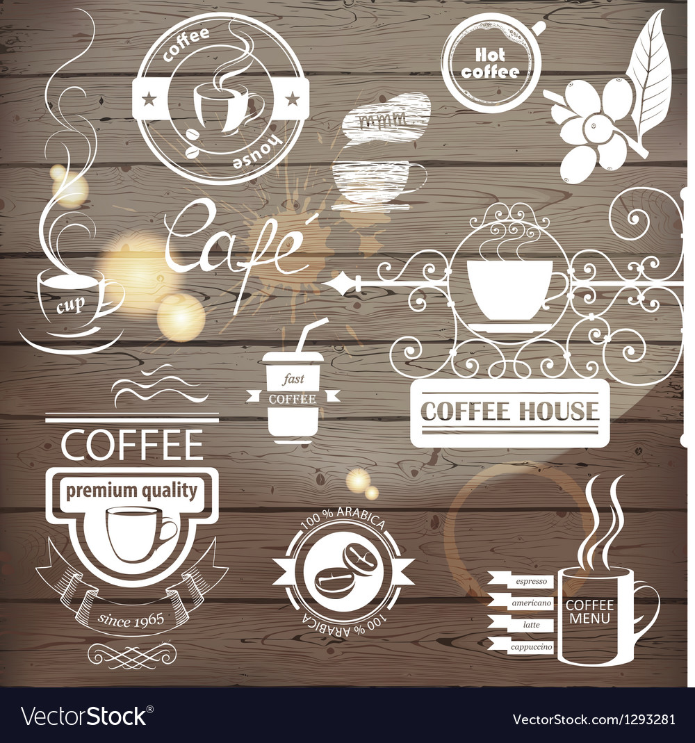Coffee logos vector