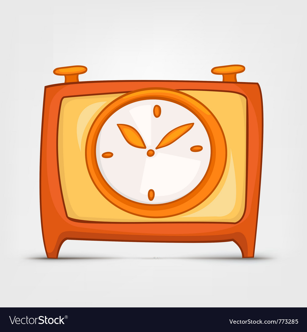 Cartoon home clock vector