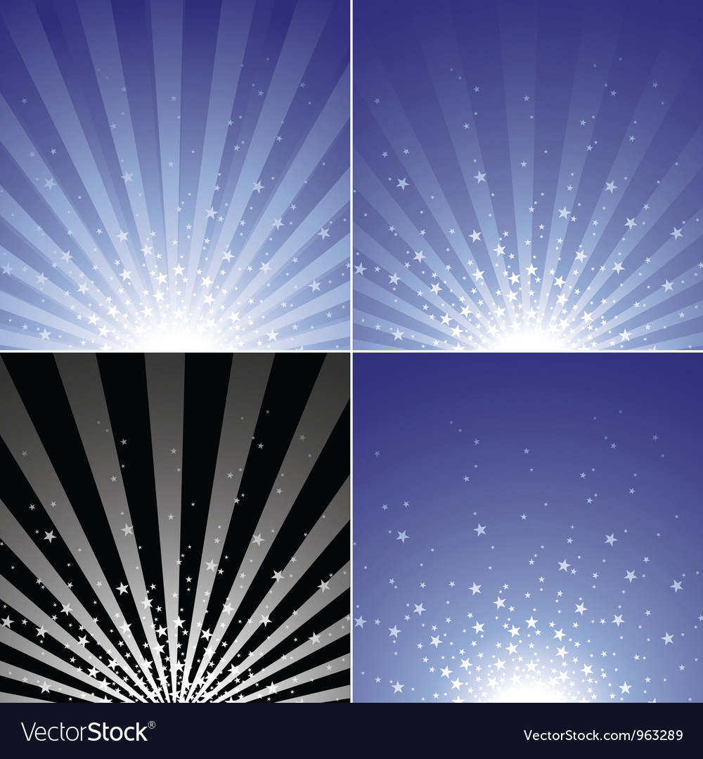 Star burst set vector