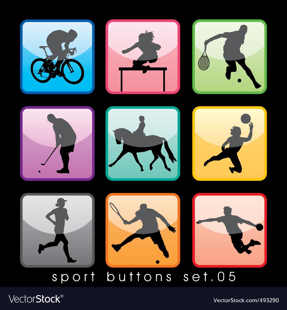 Sport buttons 05 vector