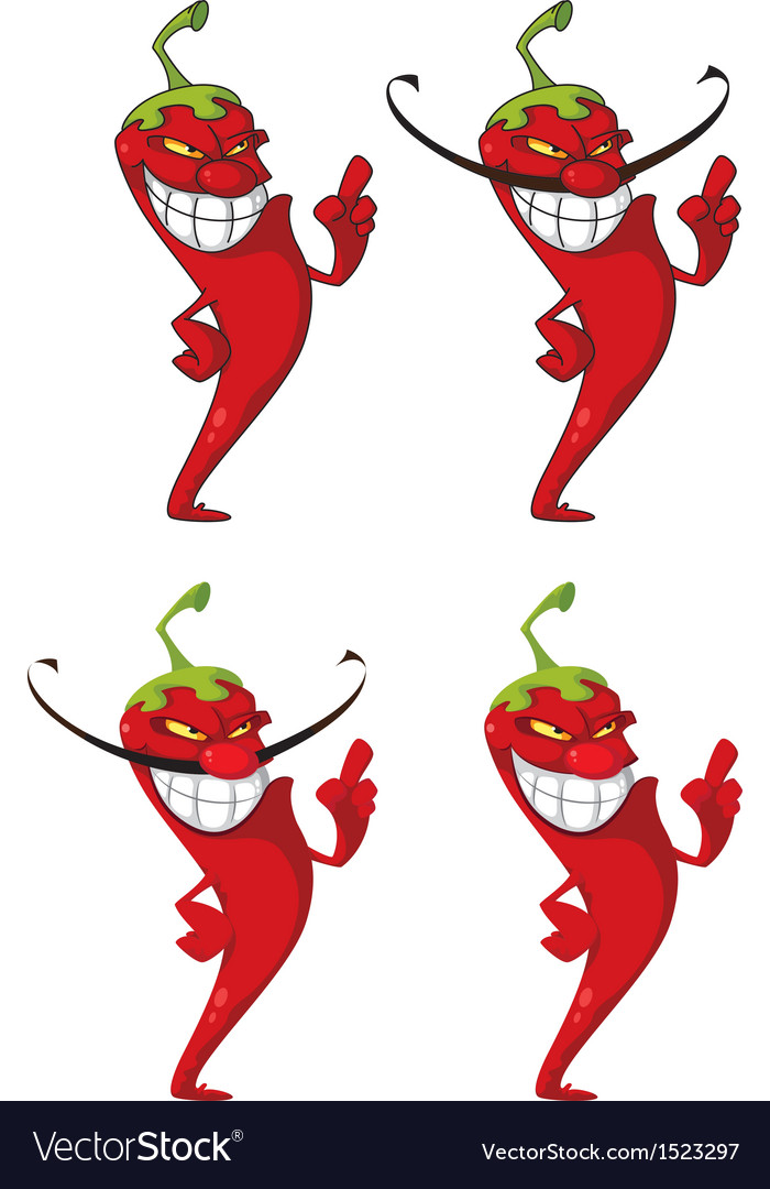 Pepper set vector