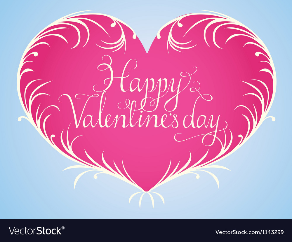 Happy valentine vector