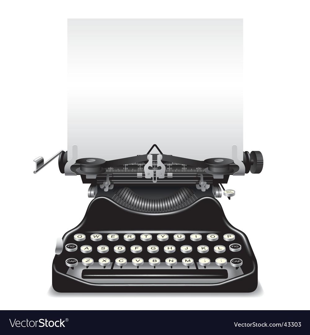Od typewriter vector