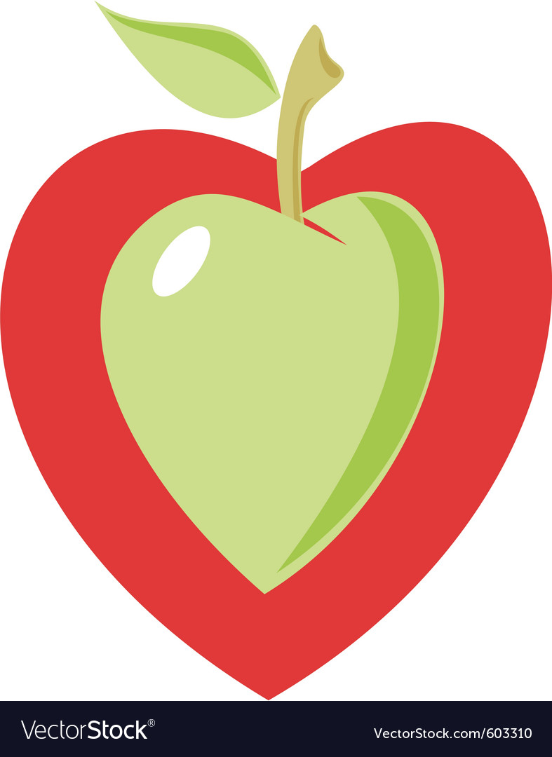 Apple heart vector