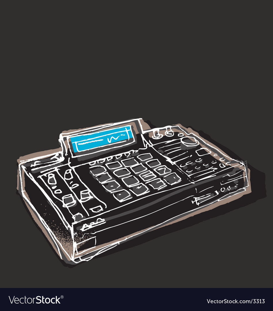 Free mpc drum machine vector