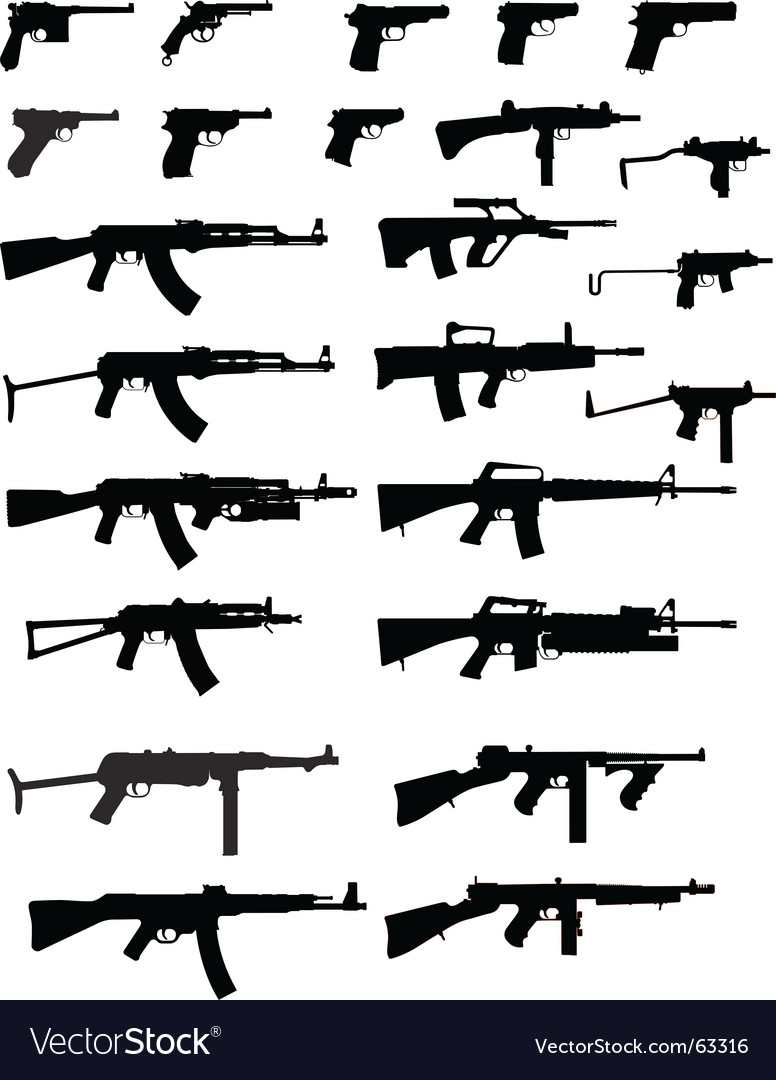 Gun collection vector