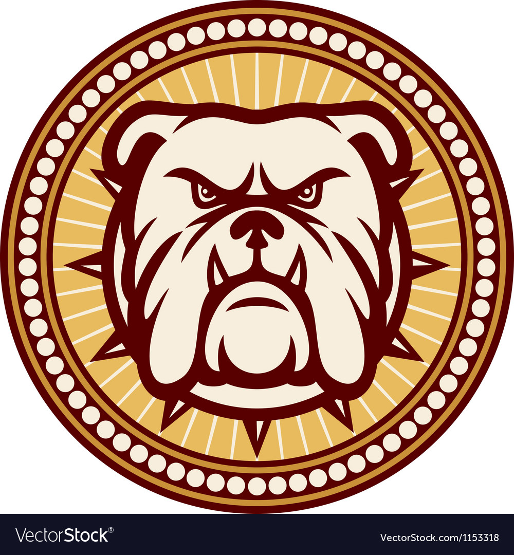 Angry bulldog head symbol vector