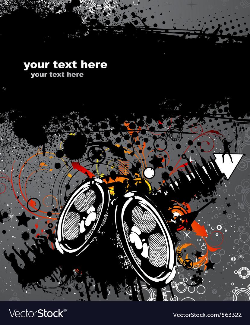 Grunge concert poster vector