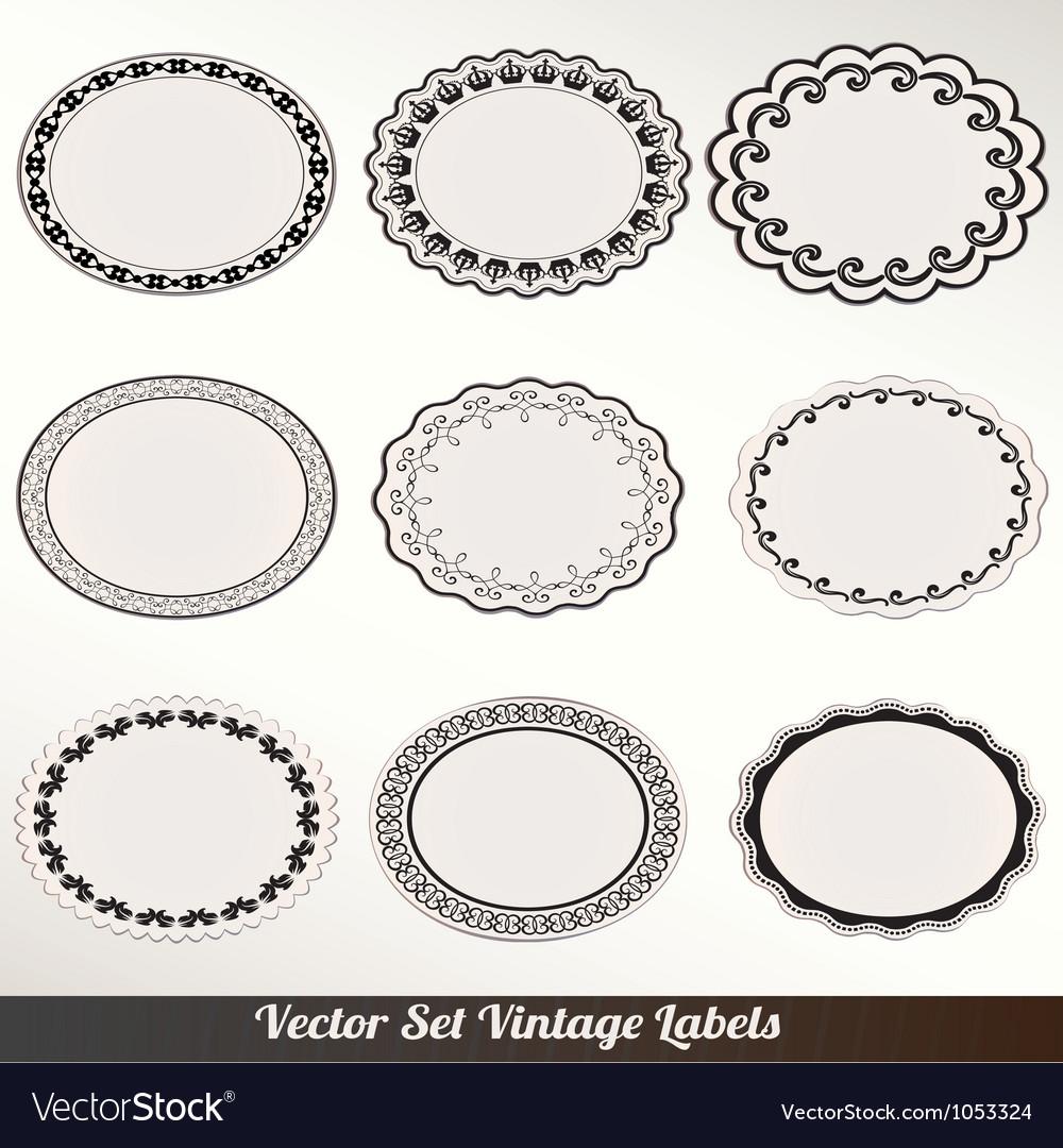Frame labels set ornamental vintage vector by alvarocabrera - Image ...