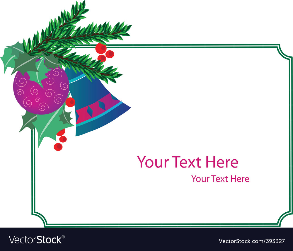 christmas card template vector by zoyalipets image 393327