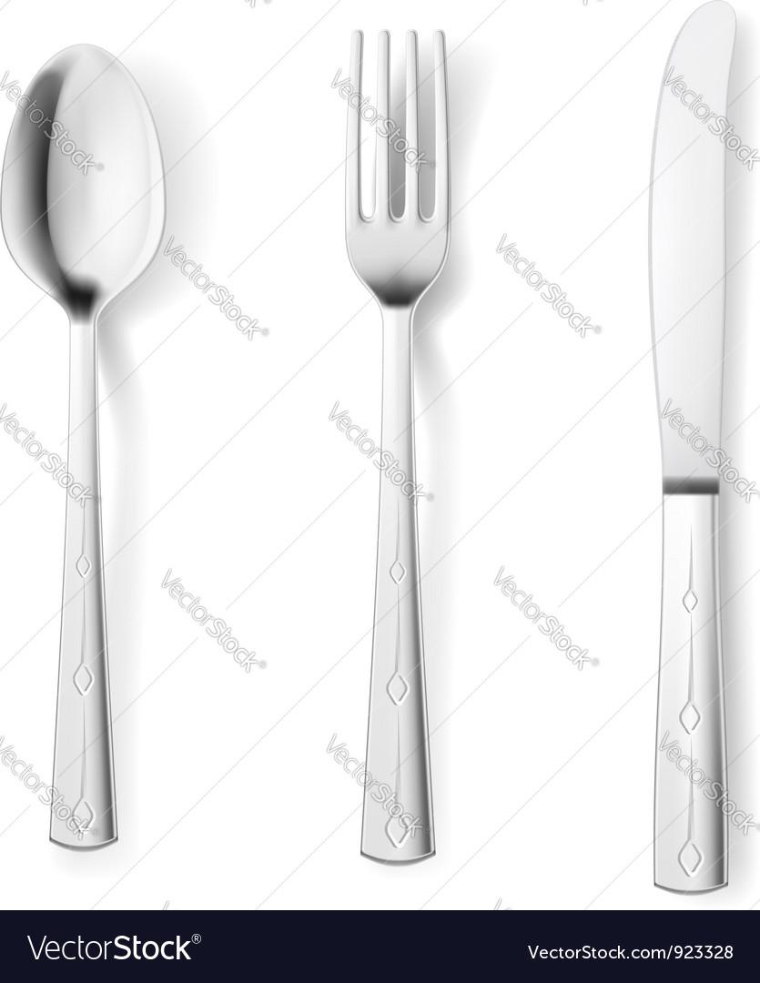 Cutlery fork spoon knife vector