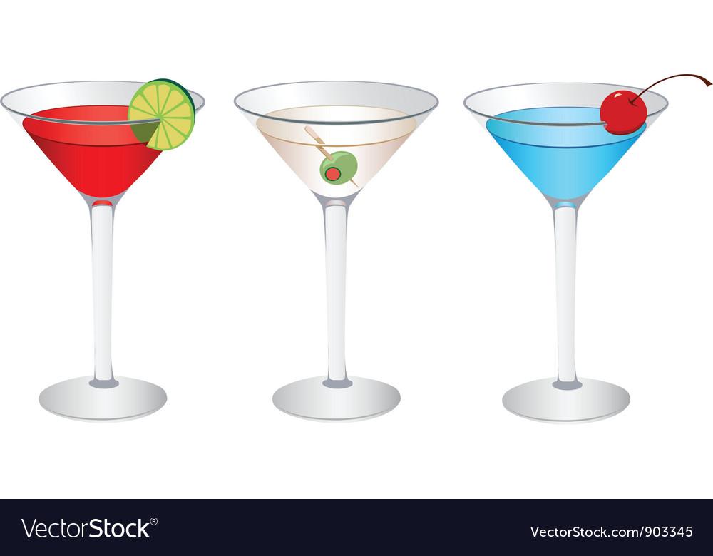 Cosmopolitan martini vector