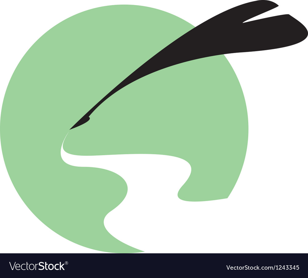 Quill writing background vector