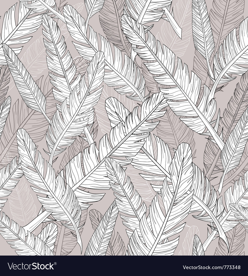 Abstract feathers pattern seamless pattern vector